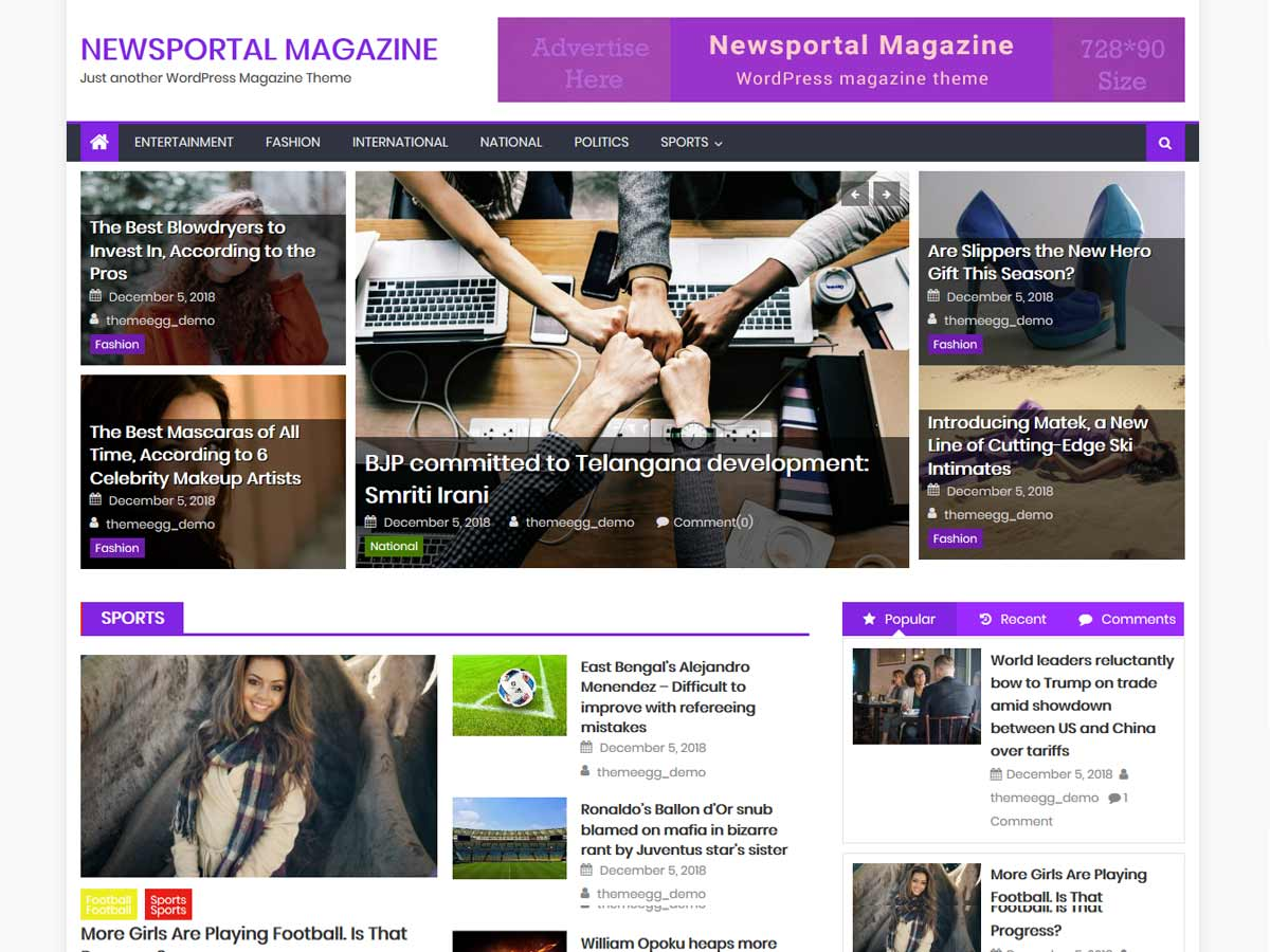 Newsportal Magazine is a very powerful wordpress online magazine theme.