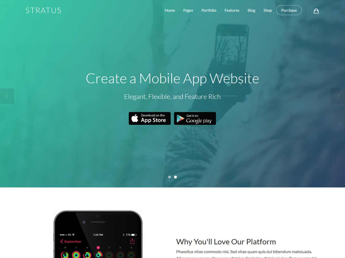 App, SaaS & Software Startup Tech Theme – Stratus