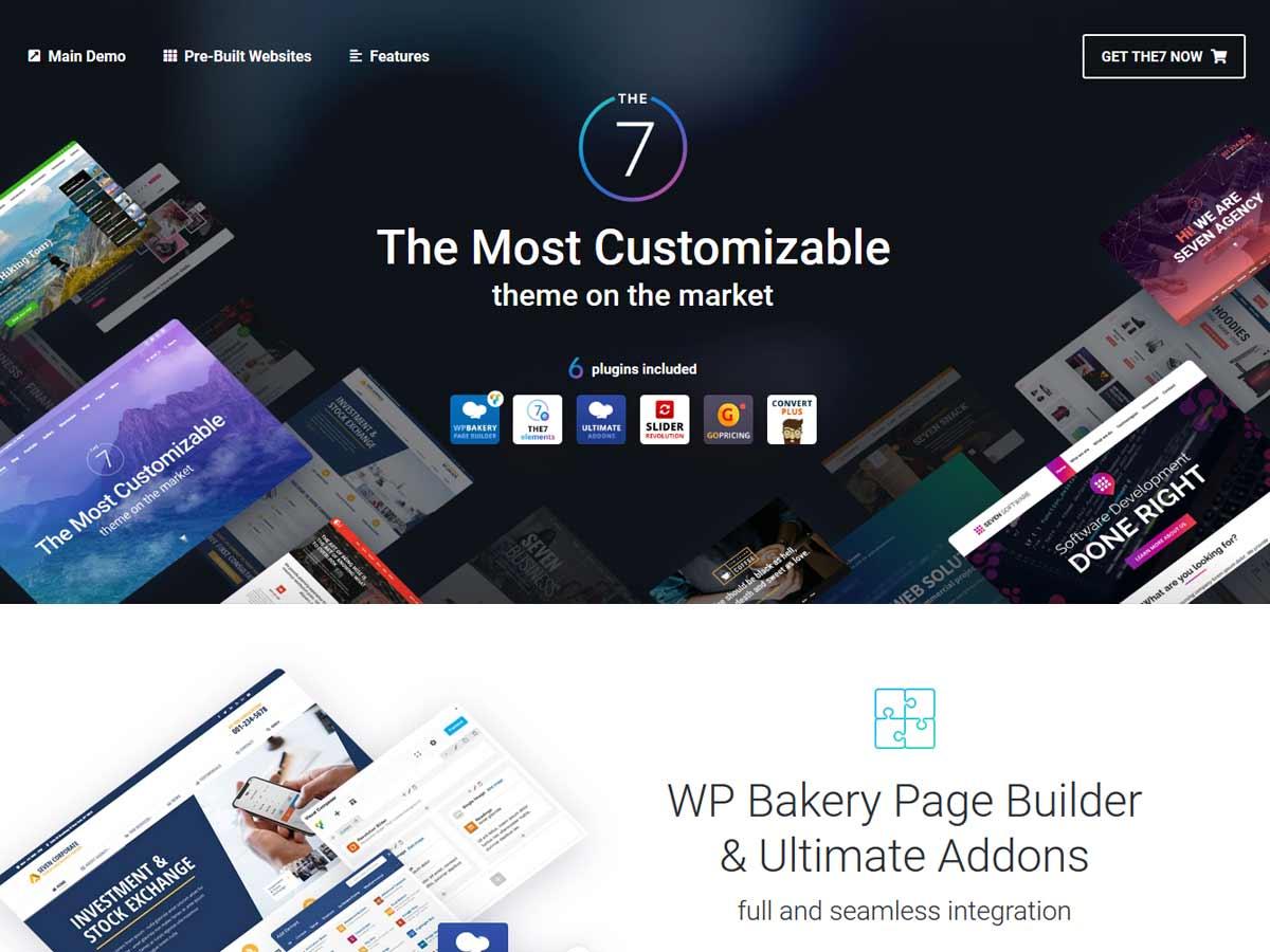 The7 — Multi-Purpose Website Building Toolkit for WordPress theme