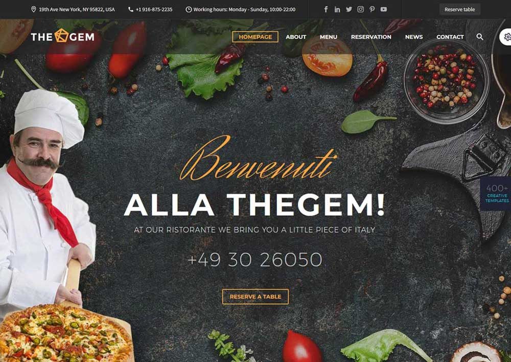 Responsive Restaurant & Food Delivery WordPress Themes