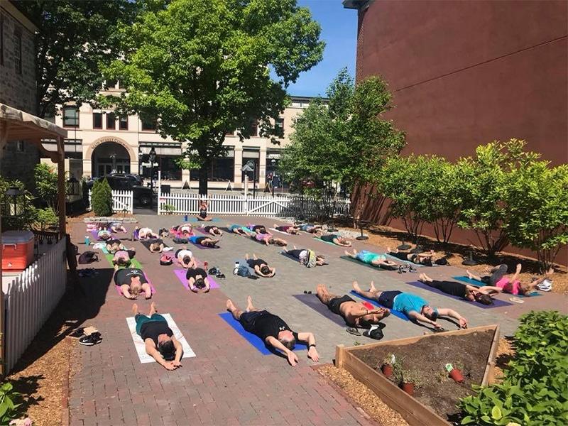 Yoga at the Tavern at the Sun Inn