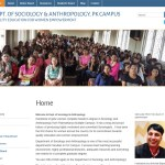 WP Site for Department of Sociology & Anthropology, PK Campus