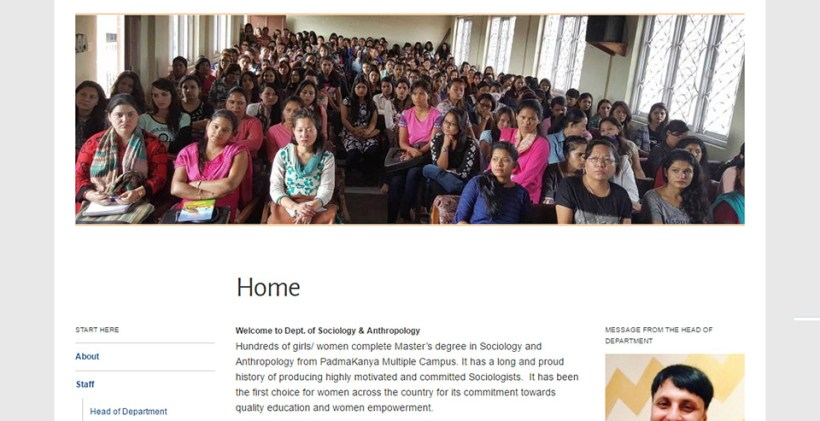 wp-website-Dept. of Sociology & Anthropology, PK Campus