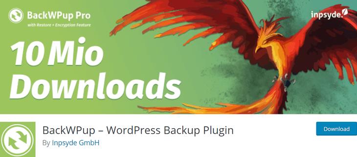 BackUpWP Free WordPress Plugin