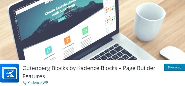 Kadence Blocks WordPress Gutenberg Plugin