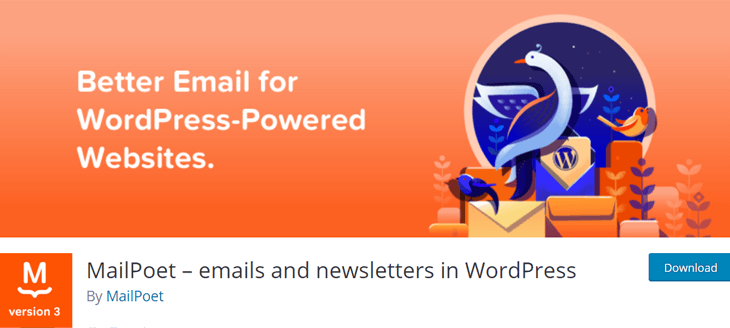 MailPoet email marketing plugin for WordPress