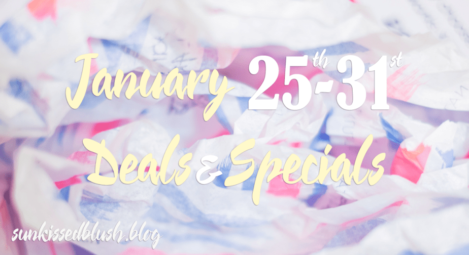 End of January Deals & Specials