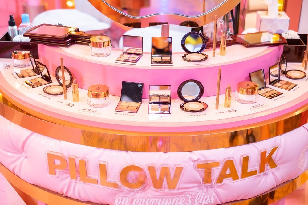 Charlotte Tilbury Pillow Talk inspired booth