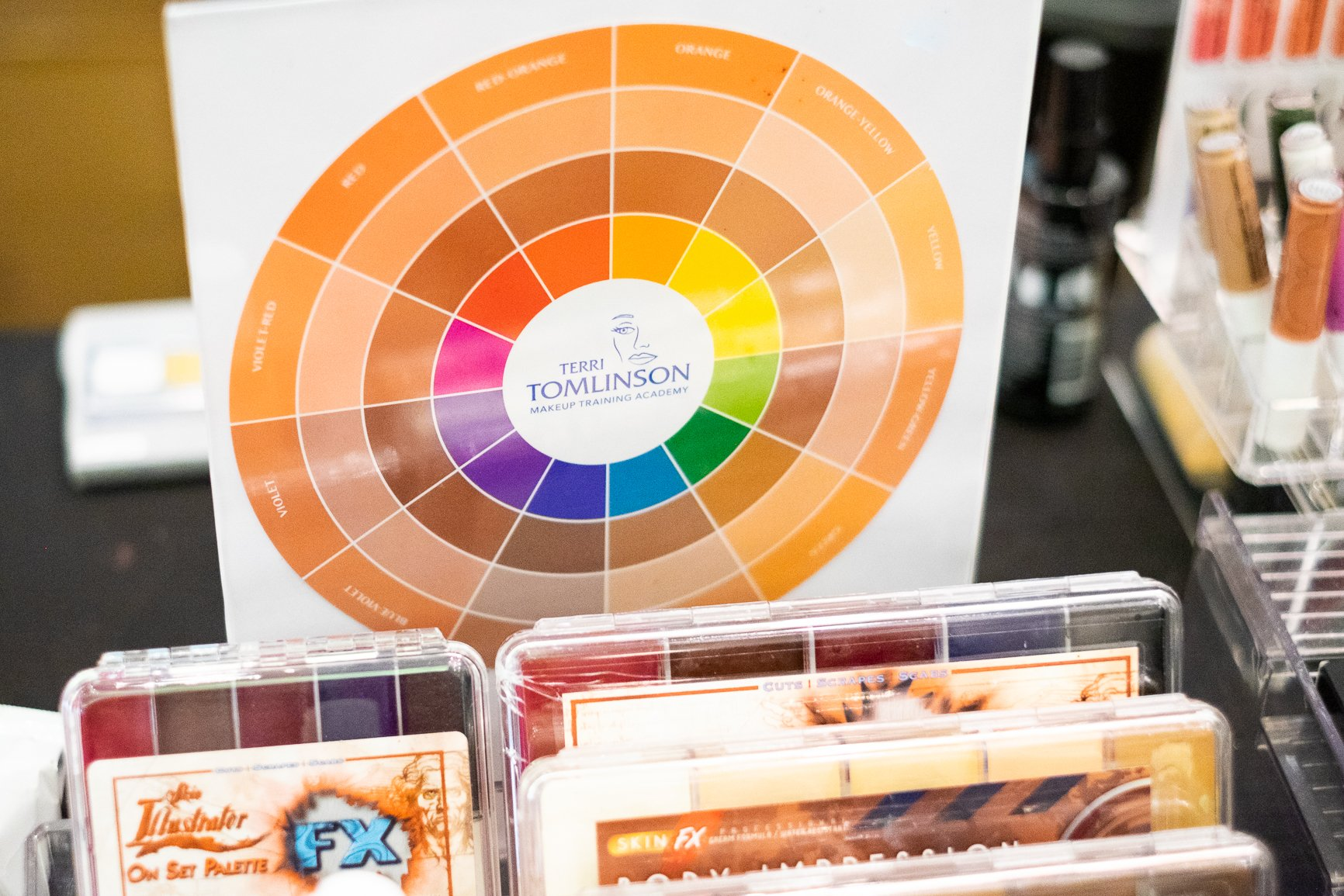 Color correction wheel