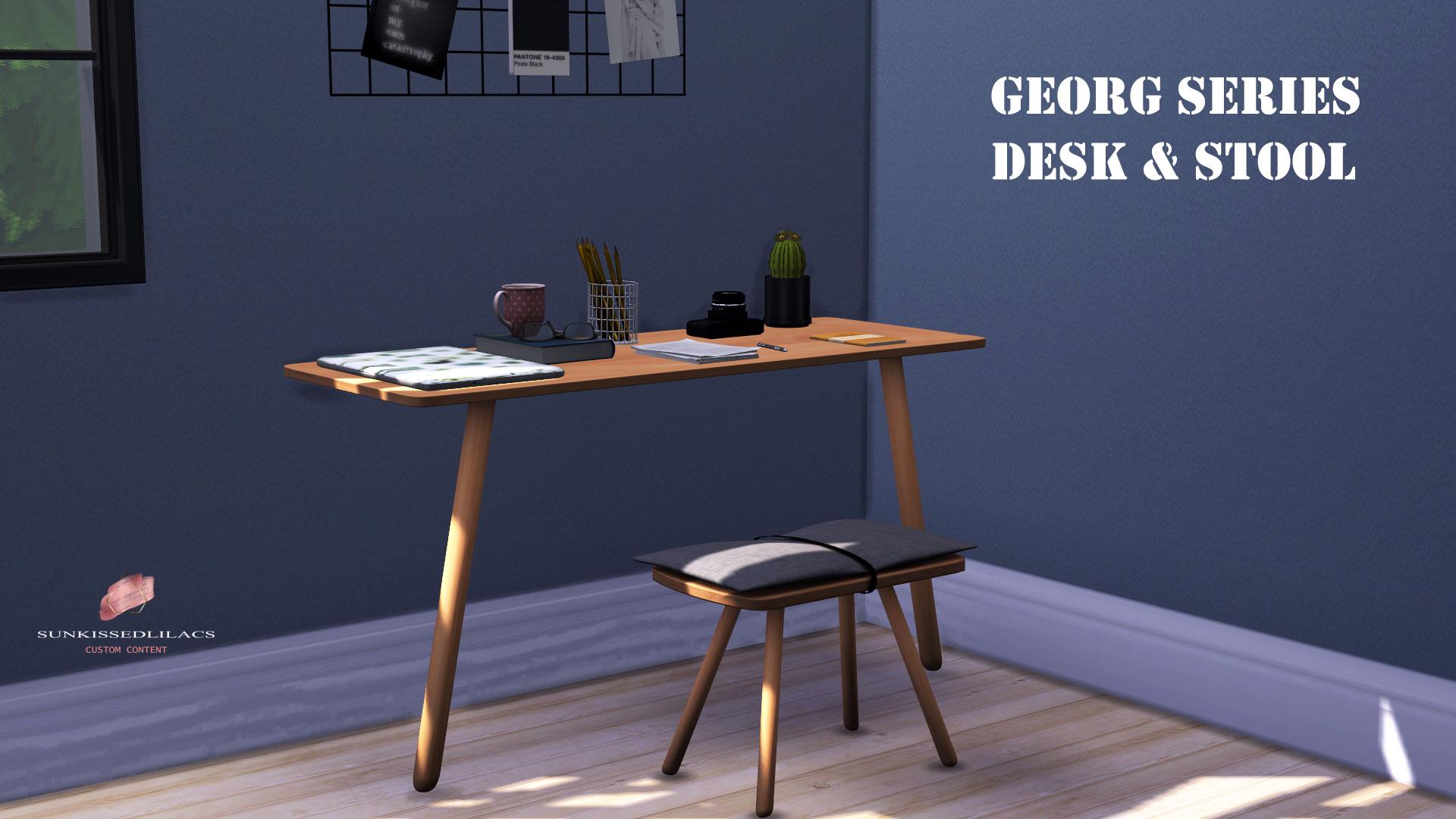 Georg Series Desk & Stool