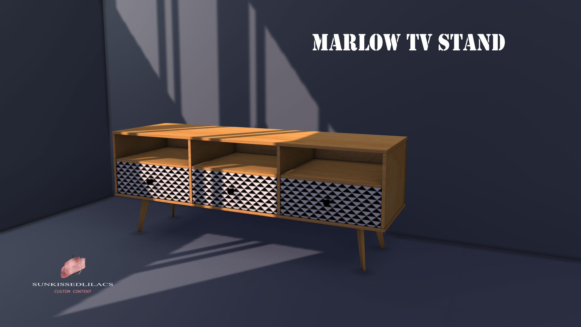 Marlow TV Stand sunkissedlilacs-simms-4-custom-content
