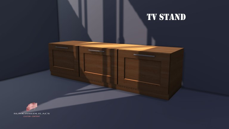Sunkissedlilacs TV Stand sims-4-custom-content