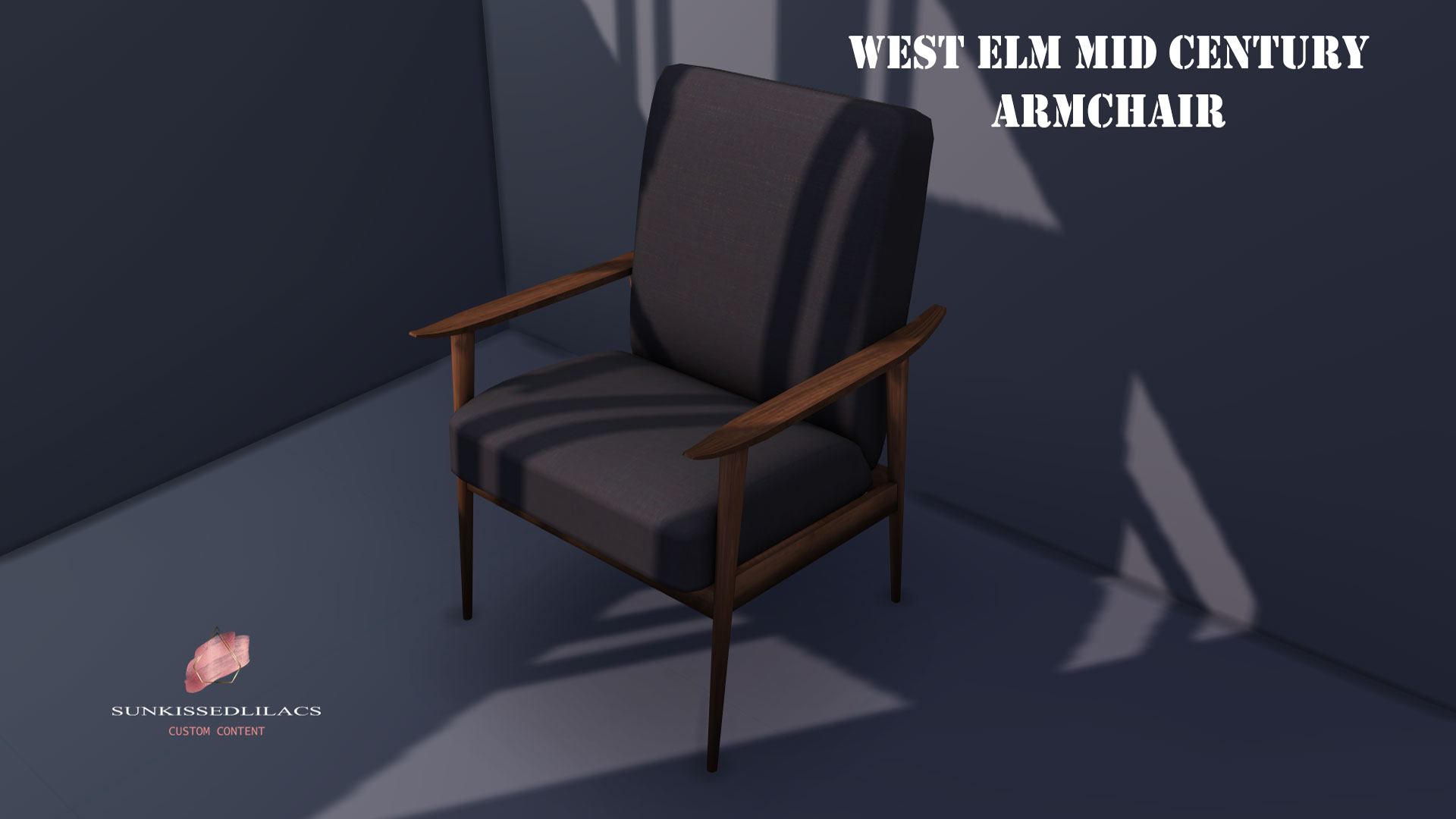West Elm Mid Century Arm Chair sunkissedlilacs-simms-4-custom-content