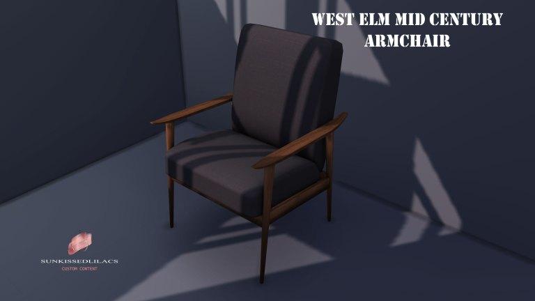 West Elm Mid Century Arm Chair sunkissedlilacs-simms-4-custom-content