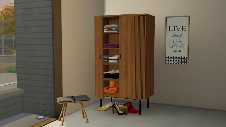Double Door Wardrobe, high quality sims 4 cc, sunkissedlilacs, free sims 4 furniture, sims 4 custom content,