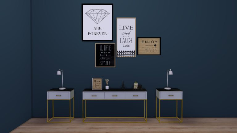 Marble Top Console, high quality sims 4 cc, sunkissedlilacs, free sims 4 furniture, sims 4 custom content,