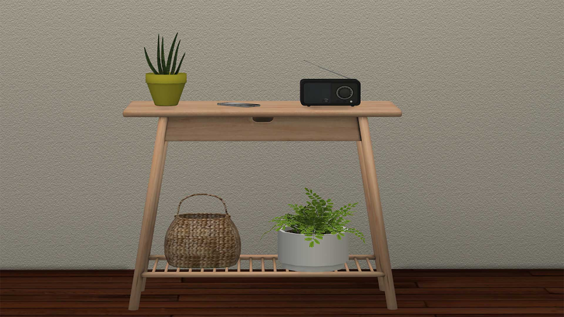Aalto Hallway Console, high quality sims 4 cc, sunkissedlilacs, free sims 4 furniture, sims 4 custom content,