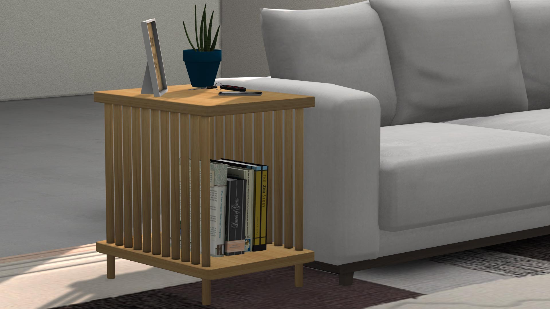 Oak End Table, high quality sims 4 cc, sunkissedlilacs, free sims 4 furniture, sims 4 custom content,