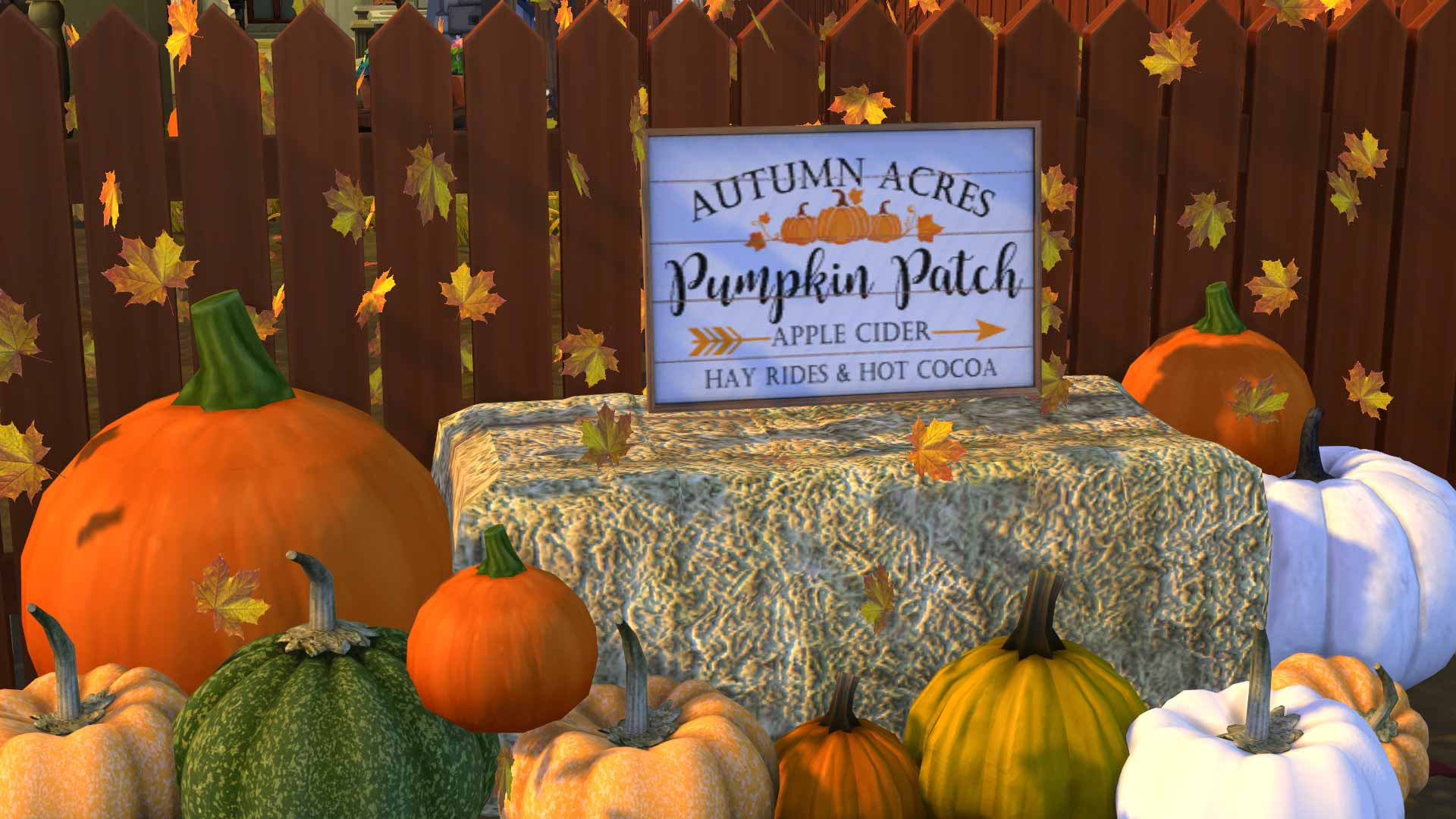 Pumpkin Patch Signs, high quality sims 4 cc, sunkissedlilacs, free sims 4 furniture, sims 4 custom content,