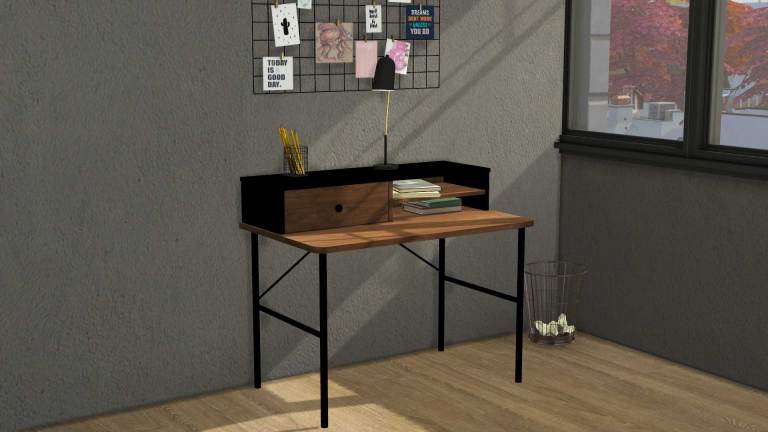 Industrial Desk, high quality sims 4 cc, sunkissedlilacs, free sims 4 furniture, sims 4 custom content,