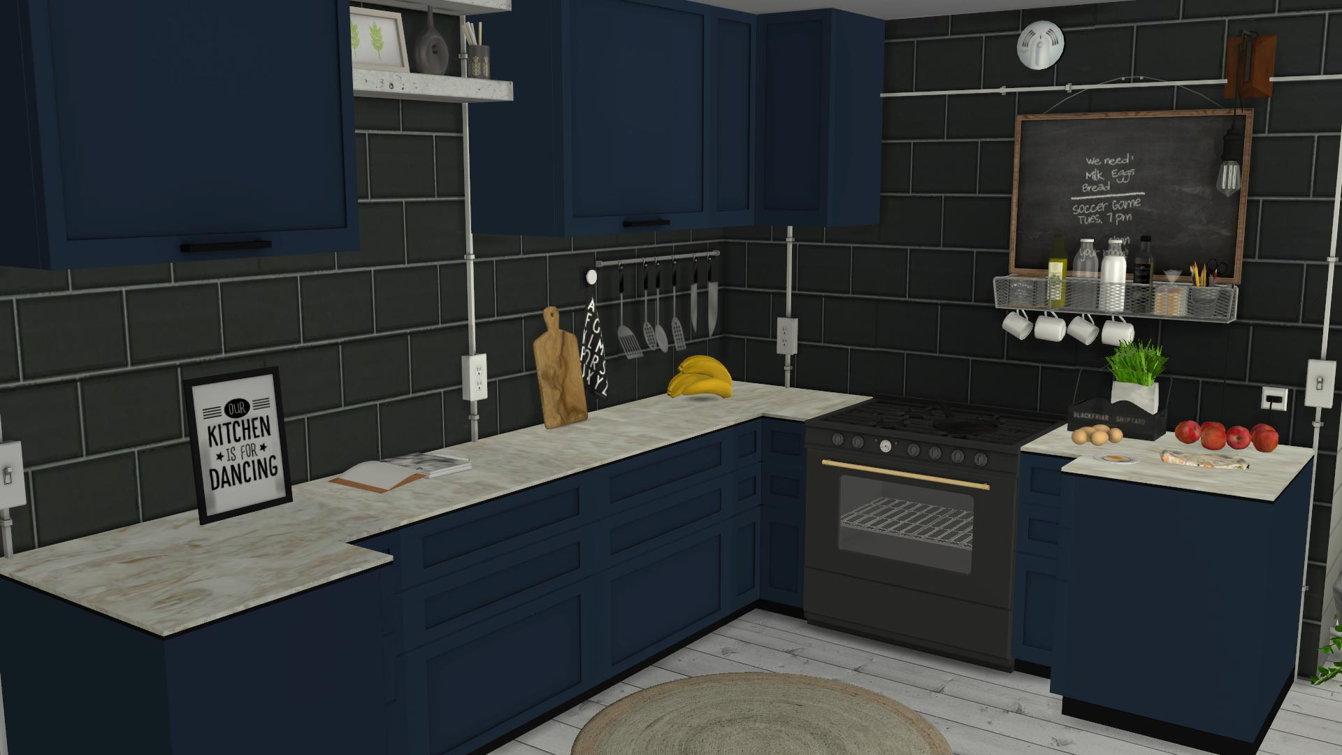 Madison Kitchen, high quality sims 4 cc, sunkissedlilacs, free sims 4 furniture, sims 4 custom content,