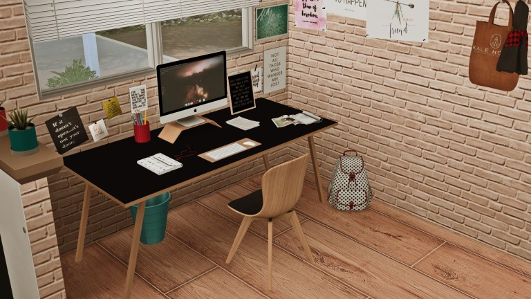 Scandi Style Study, high quality sims 4 cc, sunkissedlilacs, free sims 4 furniture, sims 4 custom content,
