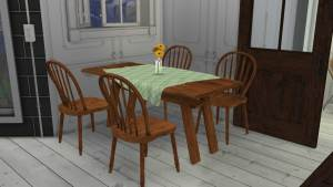 Rustic Dining, high quality sims 4 cc, sunkissedlilacs, free sims 4 furniture, sims 4 custom content,