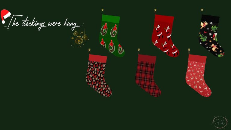 The Stockings Were Hung, high quality sims 4 cc, sunkissedlilacs, free sims 4 furniture, sims 4 custom content,