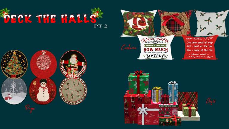 Deck The Halls Pt 2, high quality sims 4 cc, sunkissedlilacs, free sims 4 furniture, sims 4 custom content,