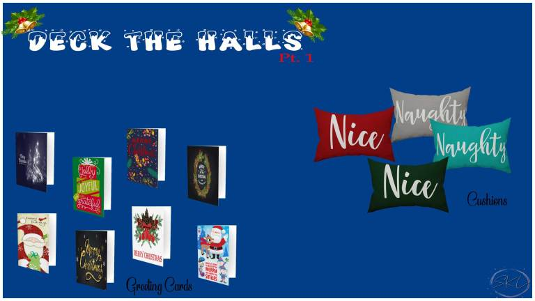 Deck The Halls Pt 1, high quality sims 4 cc, sunkissedlilacs, free sims 4 furniture, sims 4 custom content,