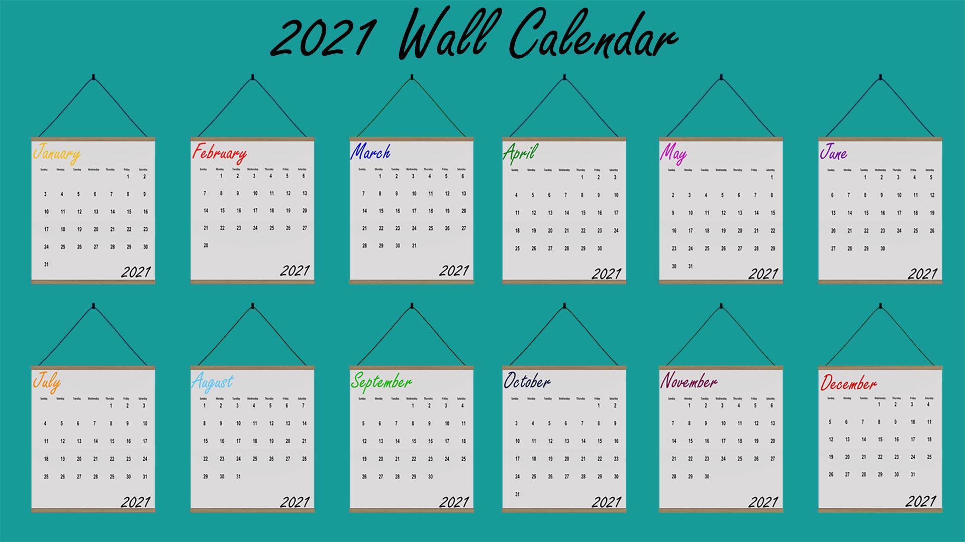 2021 Calendar, high quality sims 4 cc, sunkissedlilacs, free sims 4 furniture, sims 4 custom content,