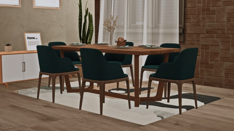 York Dining, high quality sims 4 cc, sunkissedlilacs, free sims 4 furniture, sims 4 custom content,