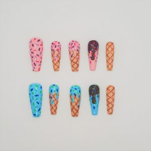 What's The Scoop Ice Cream Press On Nails