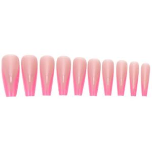 Pink Triangle French Tip Press On Nails