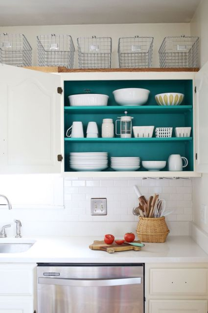 Adding a color pop in the kitchen!