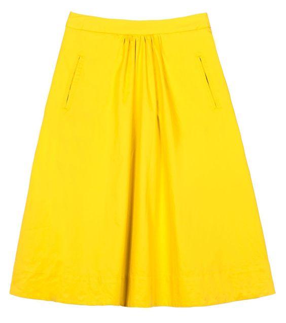 gorman yellow skirt