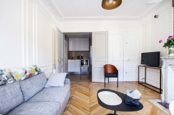 rue Tresor living room kitchen