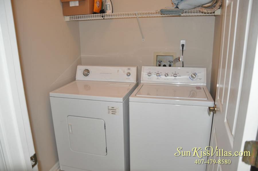 Vacation Rental Near Disney - Bahama Breeze - Laundry Room
