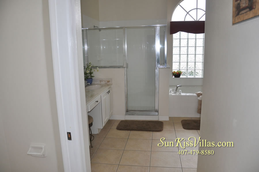 Orlando Disney Vacation Home Rental - Grand Hereon - Master Bath