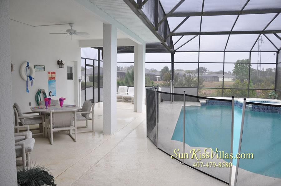 Orlando Disney Vacation Home Rental - Grand Hereon - Pool and Covered Lanai