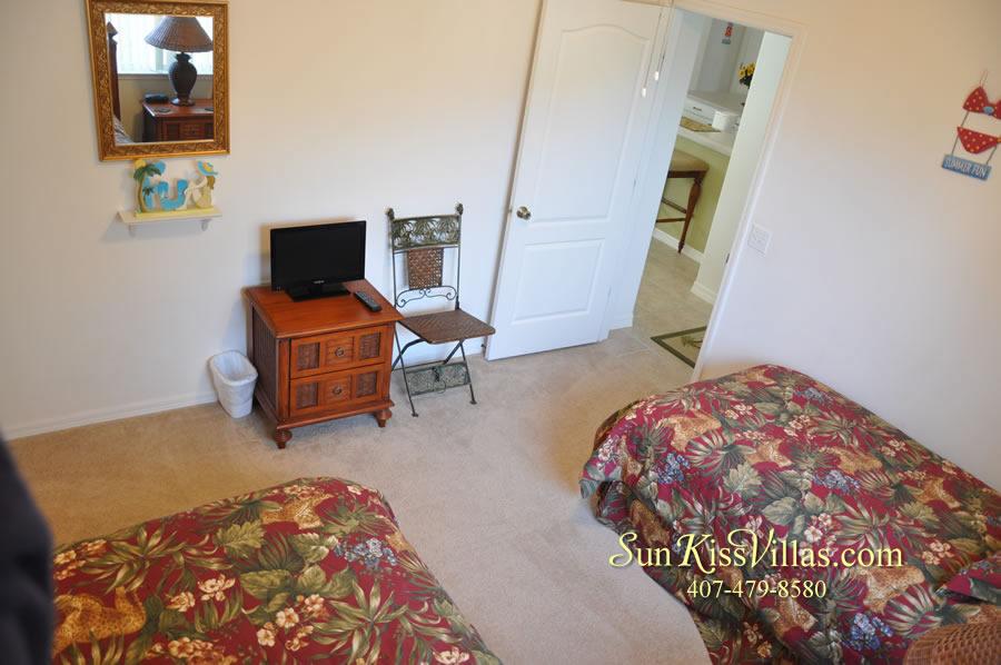 Orlando Disney Vacation Rental Home - Grand Oasis - Twin Bedroom