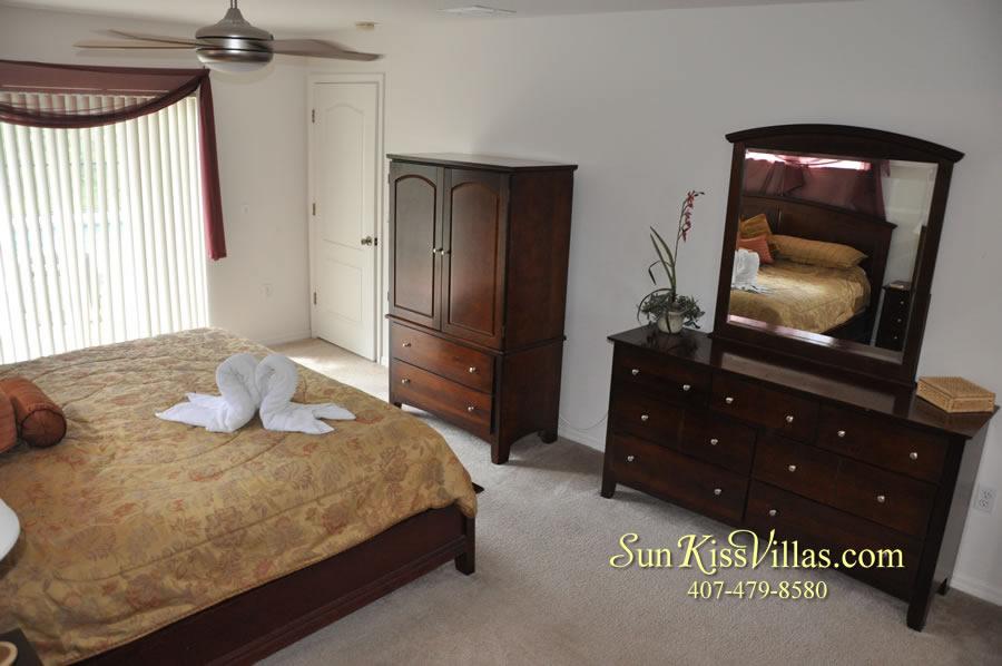 Orlando Disney Villa Rental - Grand Palms - Master Bedroom