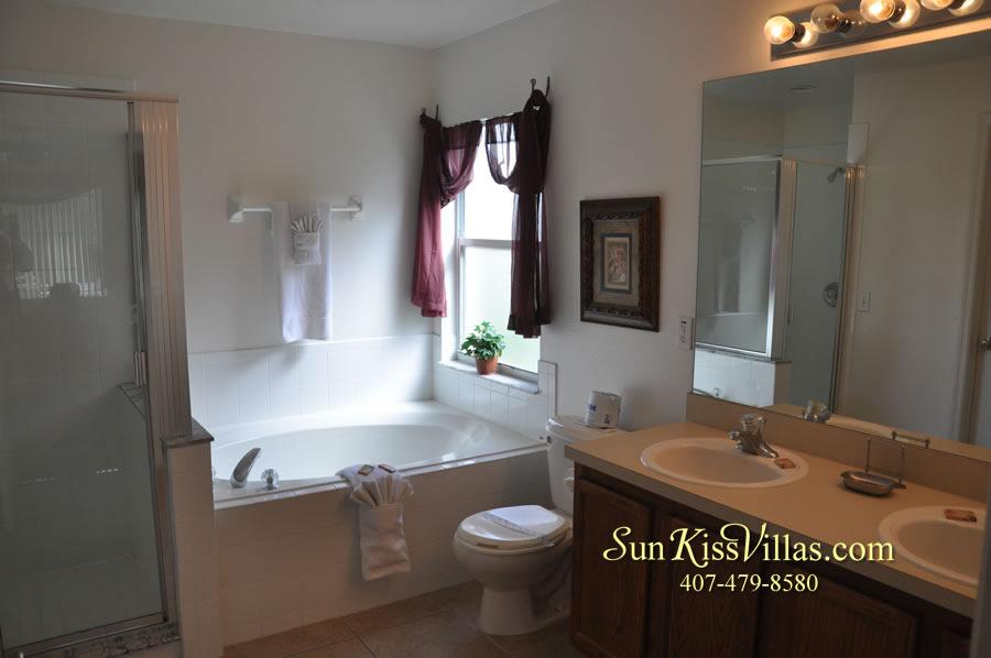 Orlando Disney Villa Rental - Grand Palms - Master Bath