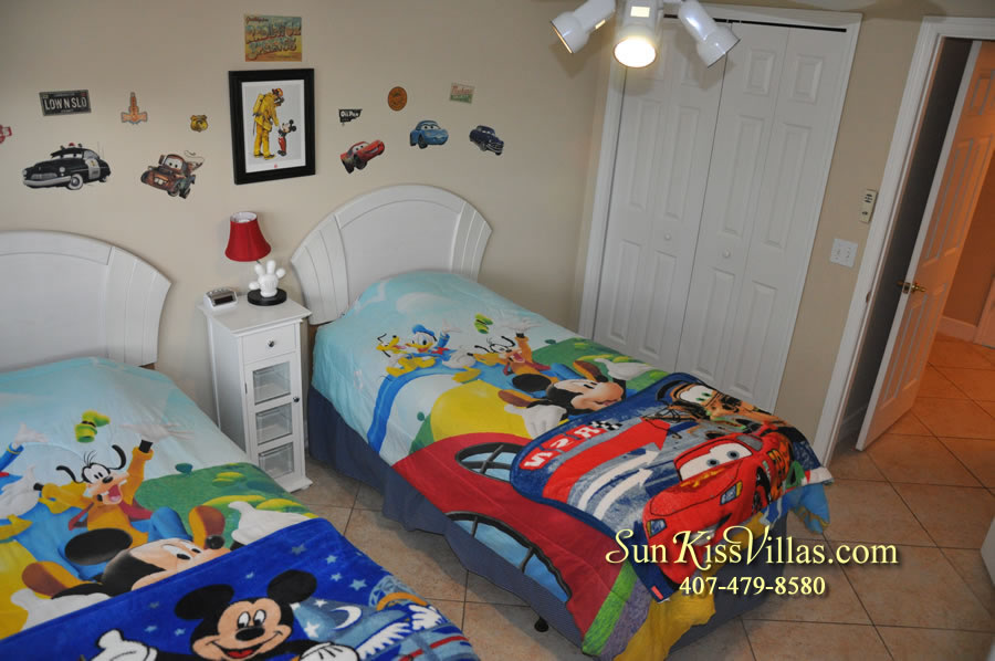 Orlando Villa Rental Near Disney - Keystone - Twin Bedroom