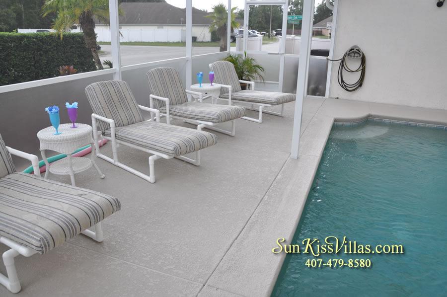 Orlando Villa Rental Near Disney - Keystone - Pool and Patio