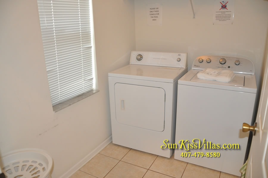 Disney Vacation Rental Home - Mickey's Cottage - Laundry Room