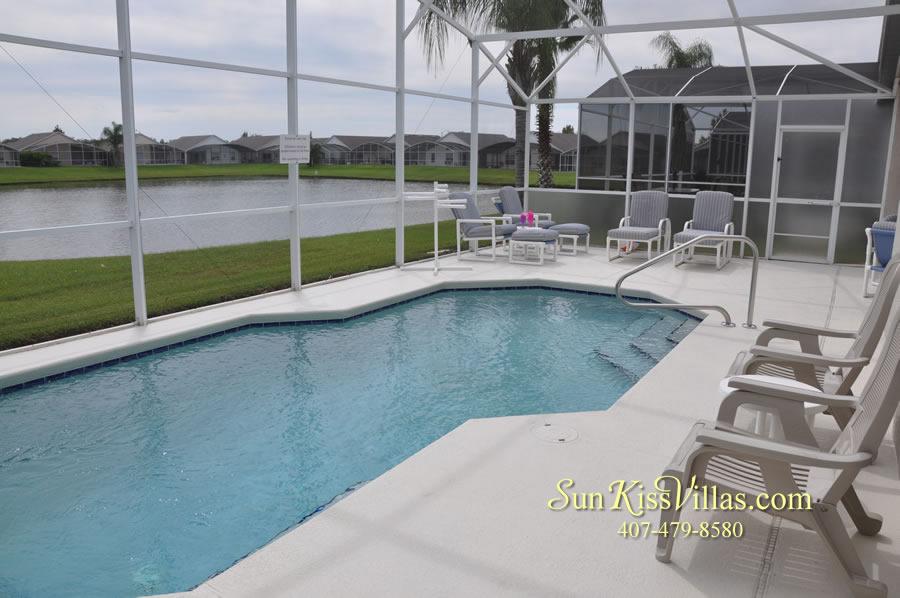 Orlando Vacation Rental - Palm Lake - Pool and Lake View