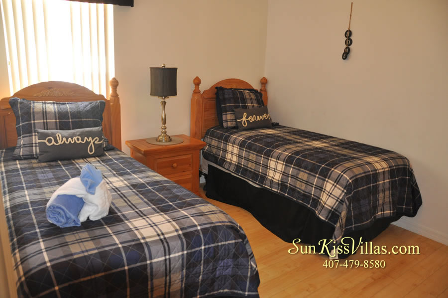 Orlando Disney Vacation Rental Solana - Pelican Point - Twin Bedroom