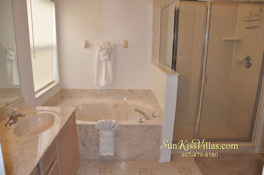 Disney Villa Rental - Sunrise - Master Bath