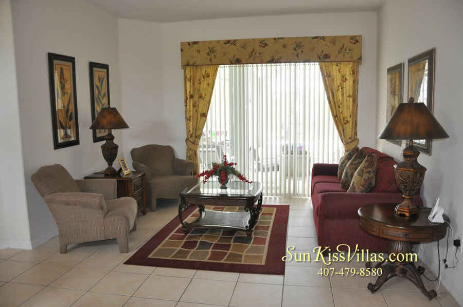 Disney Villa Rental - Heron Bay - Living Room